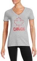 Canadian Olympic Team Collection Womens V-Neck Maple Leaf T-Shirt