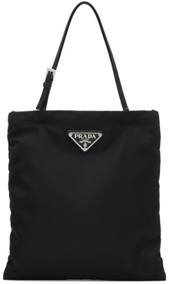 Prada Black Nylon Logo Clutch