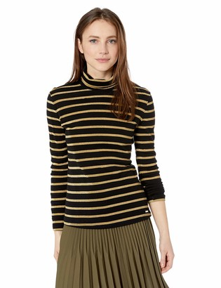 Armani Exchange A|X Women's Metallic Turtleneck