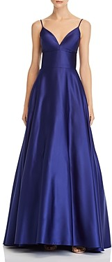 Avery G Satin Ball Gown