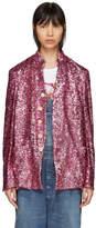 Comme des Garcons Pink Sequin Blazer