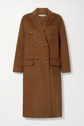 Reformation Hayden Double-breasted Felt Coat - Light brown