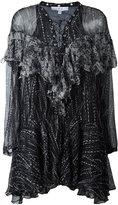 IRO lace-up neck dress - women - Cotton/Viscose - 38