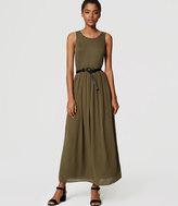 LOFT Petite Mixed Media Maxi Dress