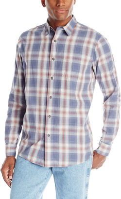 Wrangler Authentics Men's Big & Tall Long Sleeve Premium Plaid Shirt