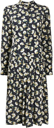Chloé Floral Print Pleated Dress