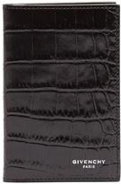 Givenchy Bi-fold crocodile-effect leather cardholder