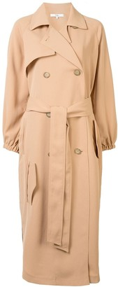 Tibi Twill Belted Trenchcoat