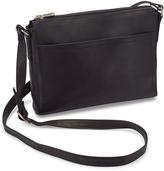 Le Donne Black Finte Leather Crossbody Bag