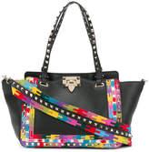 Valentino Rockstud embroidered 2-way bag