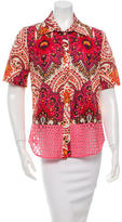 Thakoon Eyelet-Trimmed Button-Up Top
