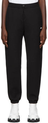MSGM Black Scuba Logo Lounge Pants