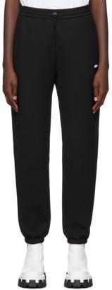 MSGM Black Scuba Logo Lounge Pants