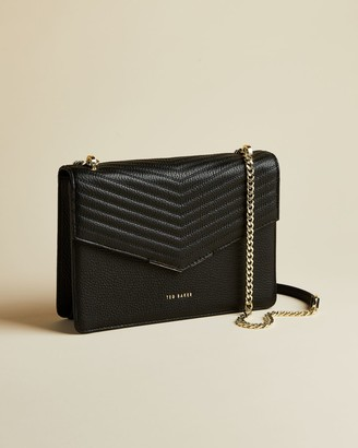 Ted Baker Leather Quilted Envelope Cross Body Bag