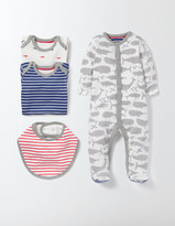 Boden Whales 4 Piece Gift Set