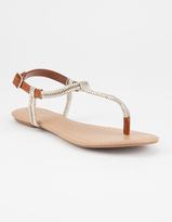 City Classified Metallic Wrap Womens Sandals