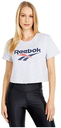 Reebok Vector Crop Tee (Light Grey Heather) Women's Clothing