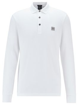 BOSS Slim-fit polo shirt in stretch cotton pique