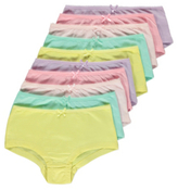 George 10 Pack Colourful Shorts