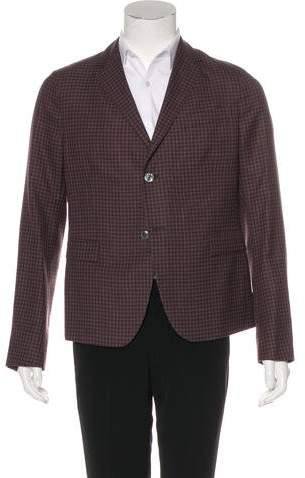 Gucci Plaid Wool Blazer w/ Tags