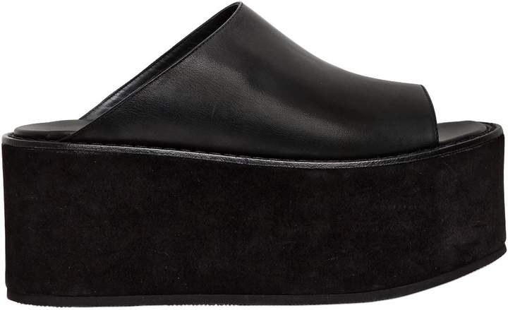 Ann Demeulemeester 85mm Leather Platform Mules