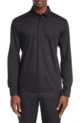 Ermenegildo Zegna Slim Fit Long Sleeve Polo Shirt