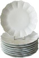 One Kings Lane Vintage Limoges Giraud Shell Dinner Plates, S/8