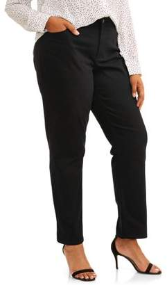 Terra & Sky Women's Plus 5 Pocket Classic Straight Leg Jean
