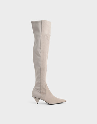 Charles & Keith Thigh High Boots (Kid Suede)