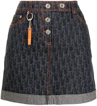 Christian Dior pre-owned Flight Trotter denim skirt