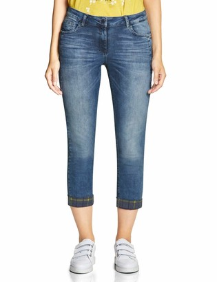 Cecil Women's 372408 Scarlett Loose Fit Straight Jeans