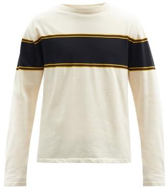 Jil Sander Striped Cotton-blend Jersey Sweater - Cream Multi