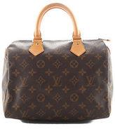 Louis Vuitton Brown Coated Canvas Monogram Speedy 25 Satchel Handbag BP4338 MHL