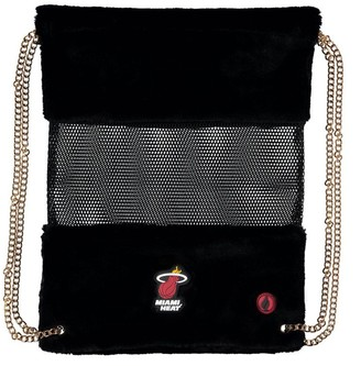 Miami Heat Mesh Gold Chain Drawstring Bag