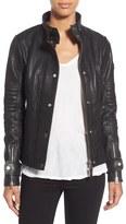 Rudsak Pebbled Leather Biker Jacket