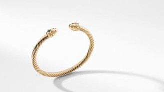 David Yurman Renaissance Bracelet In 18K Gold With Gold Dome And