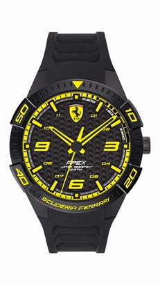 Ferrari Men's APEX Quartz Watch with Silicone Strap
