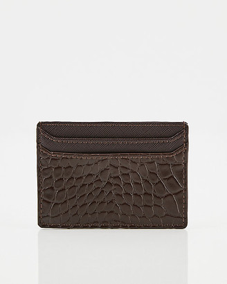 Le Château Croco Embossed Faux Leather Card Holder