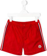 Moncler side stripe swim shorts - kids - Polyamide/Polyimide - 8 yrs