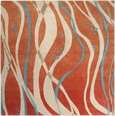 Surya Studio SR-109 Contemporary Hand Tufted 100% New Zealand Wool Cantaloupe 8' Square Abstract Area Rug