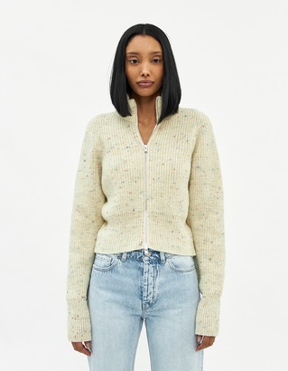 Our Legacy Women's Intact Zip Turtleneck Sweater in Rainbow, Size 38 | Wool