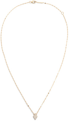 Lana 14k Diamond Mini Kite Pendant Necklace