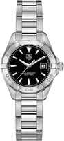 Tag Heuer Way1410.ba0920 Aquaracer stainless steel and leather watch