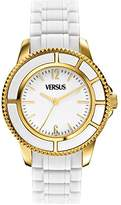 Versace Versus Women's Quartz Watch with White Dial Analogue Display and White PU Strap AL13SBQ701 A001