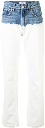 Givenchy Bleached Leg Two-Tone Jeans