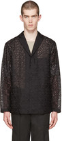 Issey Miyake Black Embroidered Blazer