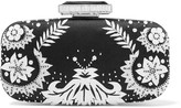 Oscar de la Renta Goa Embellished Satin Clutch - Black