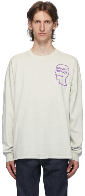 Brain Dead Grey Vibration T-Shirt