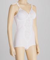 Naturana White Lace Moderate Compression Shaper Bodysuit - Plus Too
