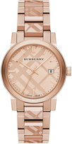 Burberry Unisex Swiss Rose Gold Ion-Plated Stainless Steel Bracelet Watch 38mm BU9039